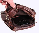 Мужская кожаная сумка Dovhani Dov-673-11 Коричневая, фото 9