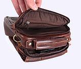 Мужская кожаная сумка Dovhani Dov-673-11 Коричневая, фото 10