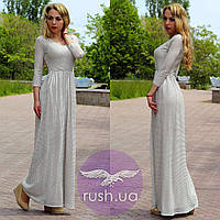 Вечернее платье в пол серебристое, фото 1