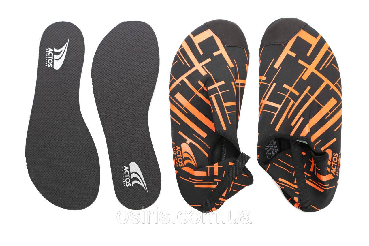 Обувь для плавания спорта йоги Actos Skin Shoes Neo Black размер 41