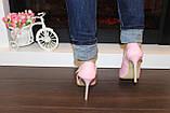 Туфли летние женские розовые лаковые на каблуке код Б199, фото 3