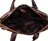 Мужская кожаная сумка Dovhani R0092 Коричневая , фото 3