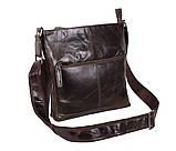 Мужская кожаная сумка Dovhani LA9017-36 Коричневая, фото 2