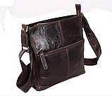 Мужская кожаная сумка Dovhani LA9017-36 Коричневая, фото 3