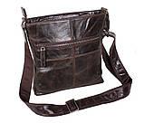 Мужская кожаная сумка Dovhani LA9017-36 Коричневая, фото 4