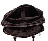Мужская кожаная сумка с отделением под ноутбук Dovhani 9086-38 Коричневая, фото 8