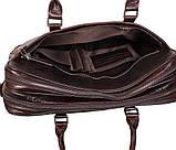 Мужская кожаная сумка с отделением под ноутбук Dovhani 9086-38 Коричневая, фото 9