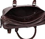 Мужская кожаная сумка с отделением под ноутбук Dovhani 9086-38 Коричневая, фото 10