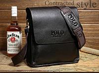 Красивая мужская сумка ПОЛО. Отличное качество. Кожаная сумка. Качественные сумки ПОЛО. Код:КСДЕ22-1