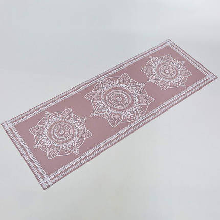 Коврик для йоги и фитнеса PVC двухслойный 4мм SP-Planeta FLOWER FI-0179-1, фото 2