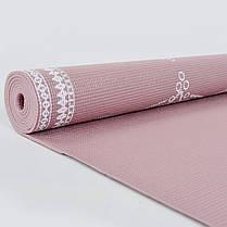 Коврик для йоги и фитнеса PVC двухслойный 4мм SP-Planeta FLOWER FI-0179-1, фото 3