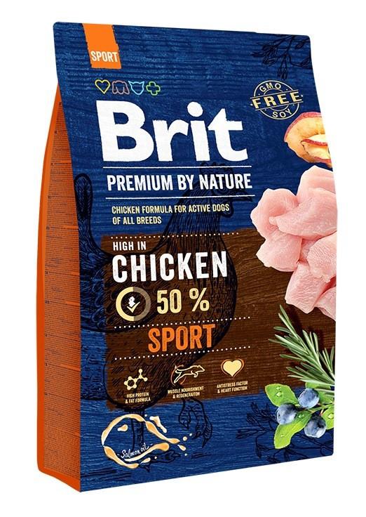 Сухой корм Brit Premium Sport Adult  для собак с высокой активностью, с курицей 15КГ