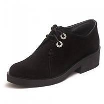 Туфли женские замшевые 7123ch, фото 3