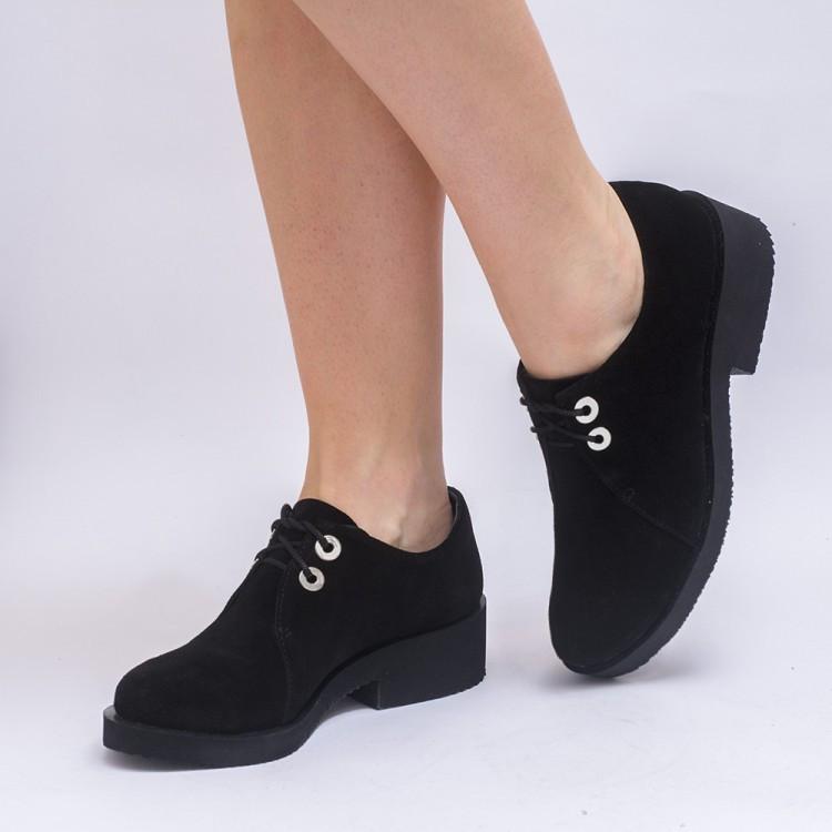 Туфли женские замшевые 7123ch