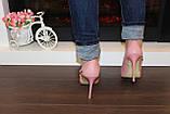 Туфли летние женские пудра на каблуке код Б201, фото 6
