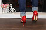 Туфли летние женские красные на каблуке код Б203, фото 4
