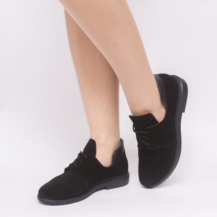 Туфли черные замшевые 833-13