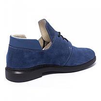 Туфли синие замшевые 833-06, фото 3
