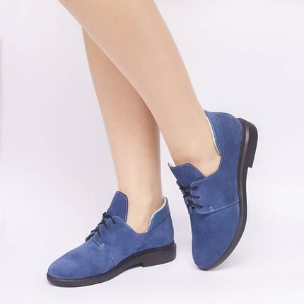 Туфли синие замшевые 833-06, фото 2
