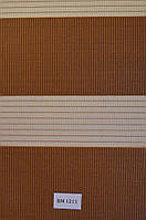 Рулонные шторы день-ночь коричневые ВМ-1211
