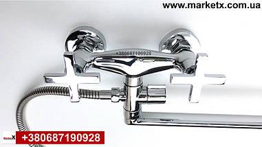 Латунний змішувач для ванни, змішувач для душа двухвентельний, фото 3
