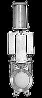 Задвижка двунаправленная DN50 PN 10 нж. сталь шиберно-ножевая с пневмоприводом Серия AB межфланцевого типа