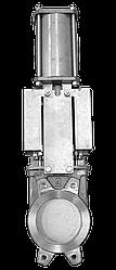 Засувка двонаправлена DN80 PN 10 нж. сталь шиберно-ножова з пневмоприводом Серія AB міжфланцева