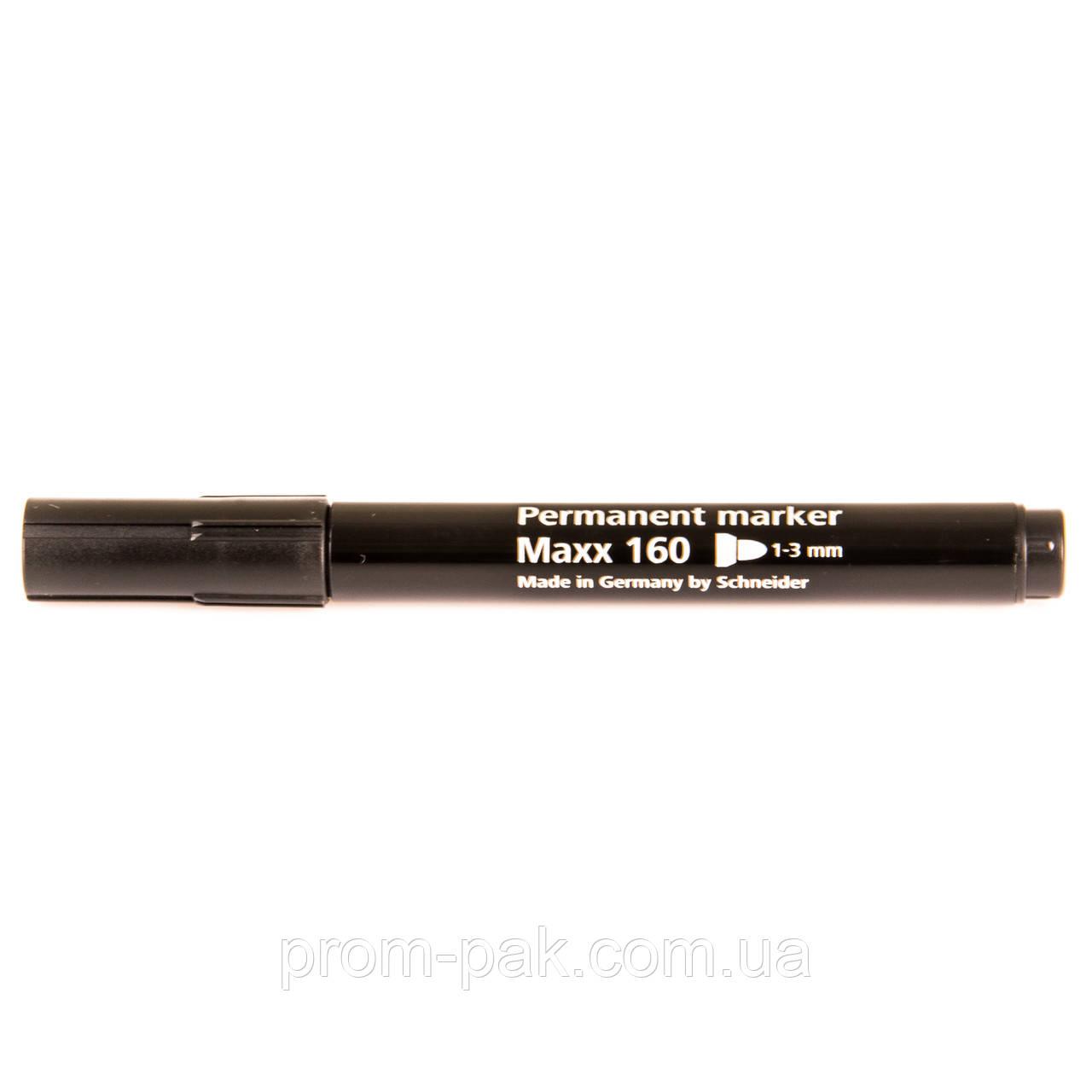 Черный маркер перманентный Schneider MAXX 160 E