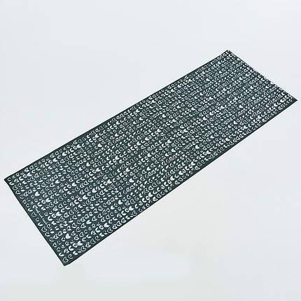 Коврик для йоги и фитнеса PVC двухслойный 4мм SP-Planeta CLOTH FI-0183, фото 2
