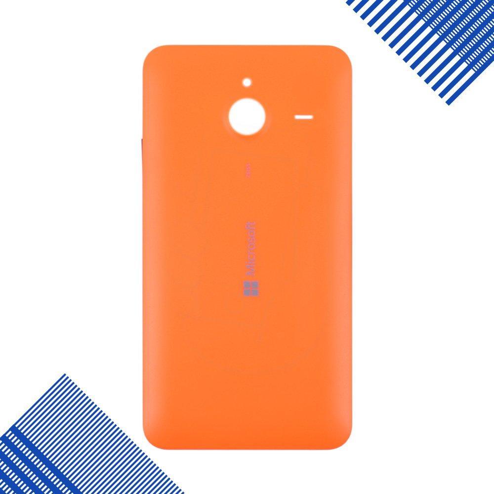 Задняя крышка для Microsoft 640 XL Lumia Dual Sim (RM-1062 RM-1065), цвет оранжевый