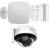 Комплект беспроводной сигнализации Ajax StarterKit (black/white) + IP камера Dahua DH-IPC-D26P