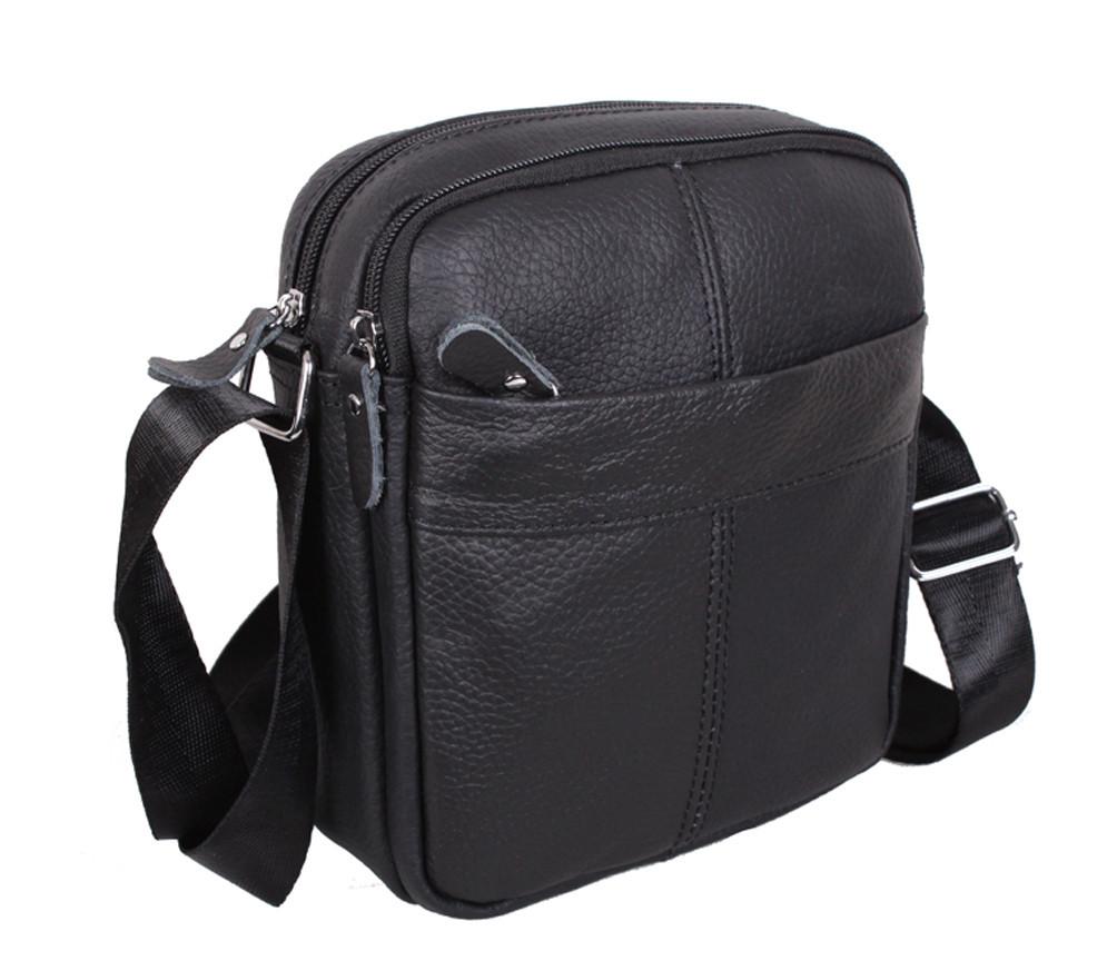 Мужская кожаная сумка Dovhani Dov-1025BL1 Черная