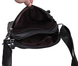 Мужская кожаная сумка Dovhani Dov-1025BL1 Черная, фото 6
