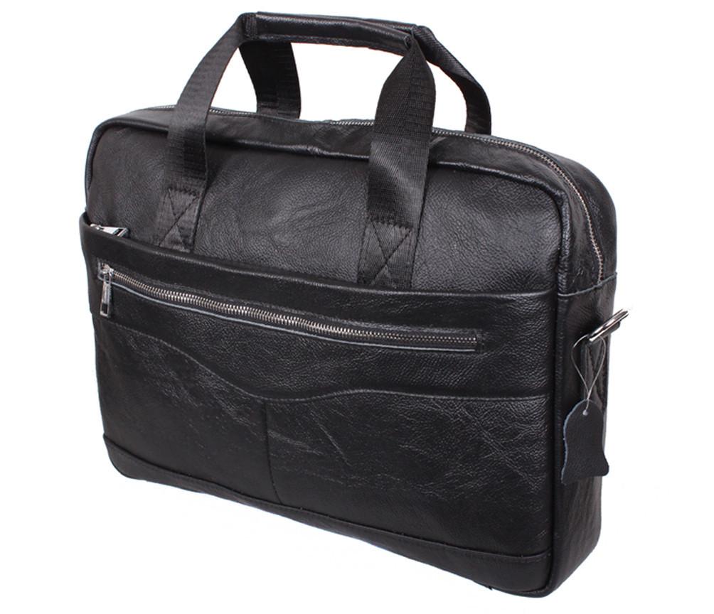 Мужская кожаная сумка Dovhani Dov-1118BL2 Черная