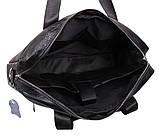 Мужская кожаная сумка Dovhani Dov-1118BL2 Черная, фото 7