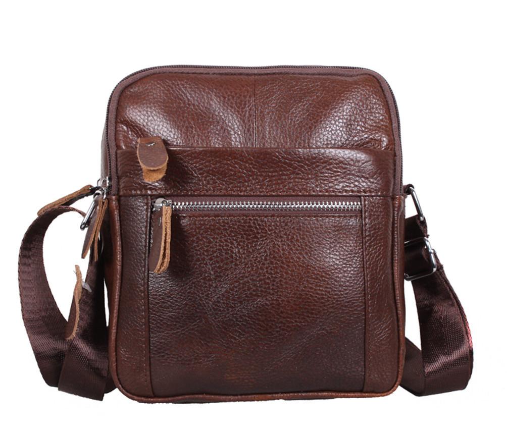 Мужская кожаная сумка Dovhani Dov-3922-36 Коричневая