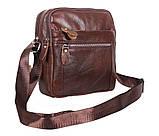 Мужская кожаная сумка Dovhani Dov-3922-36 Коричневая, фото 3