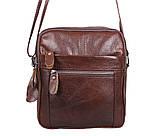 Мужская кожаная сумка Dovhani Dov-3922-36 Коричневая, фото 5