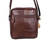 Мужская кожаная сумка Dovhani Dov-3922-36 Коричневая, фото 6