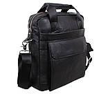 Мужская кожаная сумка Dovhani Dov-88613 Черная, фото 2