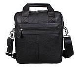 Мужская кожаная сумка Dovhani Dov-88613 Черная, фото 6