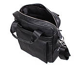 Мужская кожаная сумка Dovhani Dov-88613 Черная, фото 10