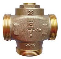 """Трехходовой термосмесительный клапан HERZ Teplomix DN32 1 1/2"""" 55C   с отключаемым байпасом 1776614"""