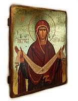 Икона Покров Пресвятой Богородицы (73*56*16 мм.)