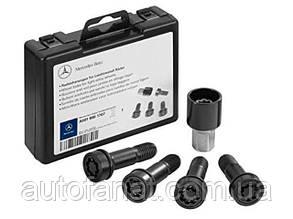 Оригинальные длинные секретки на колеса Mercedes Rim Locks Black, Box, Full Size (A0019901707)