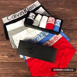Мужской набор 5шт нижнего белья Calvin Klein Steel боксеры реплика