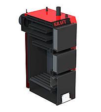 Твердопаливний котел тривалого горіння Kraft серія S 20 кВт з ручним управлінням, фото 2