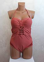 Слитный купальник 44-52р. №14-36 Розовый