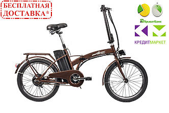 """ЕлектроВелосипед складной Maxxter URBAN 20"""" (коричневый)"""