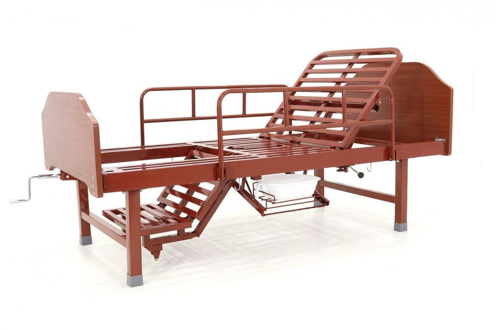 Кровать механическая Е-49 (3 функции, 7 секций)с туалетным устройством и функцией «кардиокресло»